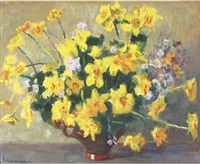 yellow daffodils (+ a town; 2 works) by anton smeerdijk