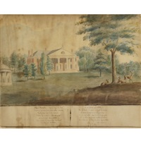 president james madison's house, montpelier, orange, virginia by anna maria brodeau
