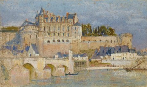 chateau amboise vallée de la loire france by louis comfort tiffany