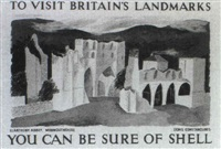 to visit britain's landmarks - llanthony abbey,       monmouthshire by denis constanduros