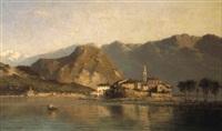 isola dei pescatori sul lago maggiore by giovanni battista lelli