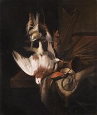 jagdstilleben mit federvieh und jagdgerätschaften by william gowe ferguson