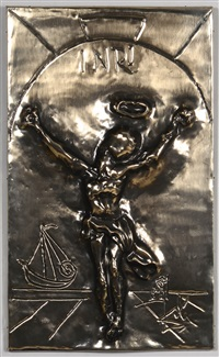 wall hanging, christ of st. john of the cross by salvador dalí