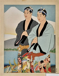la peche miraculeuse, izu: japon by paul jacoulet