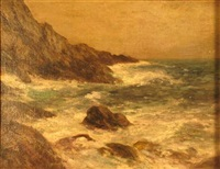 foot of white head glen cove, monhegan island, maine by bayard henry tyler