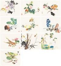 花卉蔬果 (album of 10) by wang su