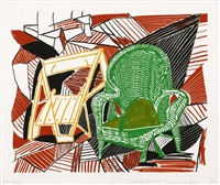 two pembroke studio chairs (from moving focus) by david hockney