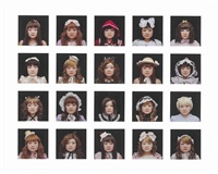 decoration/face (20 works mounted as 1) by tomoko sawada
