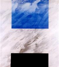 komposition i grått, blått och svart by curt hillfon