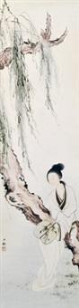 仕女 立轴 设色纸本 by chen shaomei