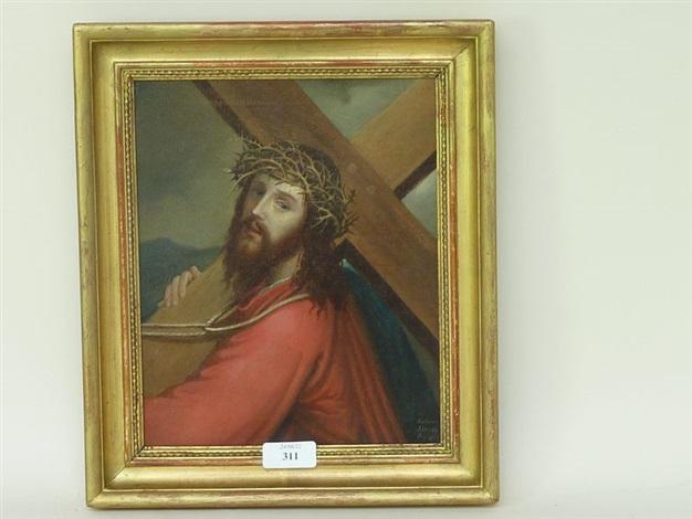 portrait du christ portant la croix by antonio alessi