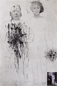 soldier and bride (from series dreaming and reality) by jiri anderle