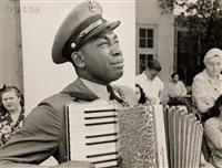 graham jackson, navy bandsman, at president roosevelt's funeral by edward clark