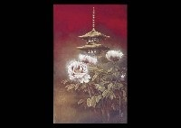 tower and peony by masahiro tsuchiya