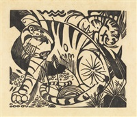 tiger by franz marc