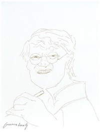 self-portrait by david hockney