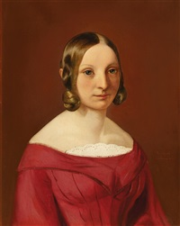 porträt einer jungen dame by philipp hoyoll
