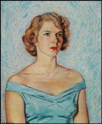 portrait of miss janet saylor by randolph stanley hewton