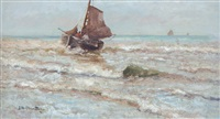 uitvarende vissersboot by gerhard arij ludwig morgenstjerne munthe
