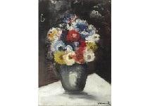 Fleurs Dans Un Pot Gris By Maurice De Vlaminck On Artnet