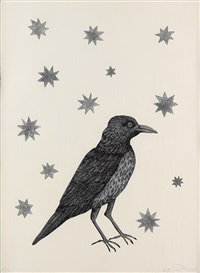 bird with stars by kiki smith