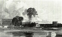 eton college from fellow's eyot by james (rev.) bulwer