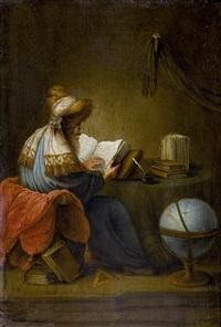 lesender gelehrter mit turban by leonard bramer