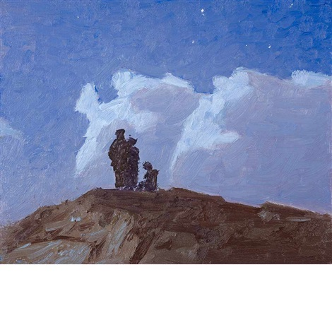 hilltop monhegan island by edward henry potthast