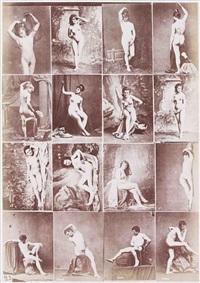album d'études académiques, nus féminins et masculins, enfants, détails (39 works) by louis jean baptiste igout