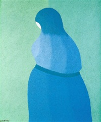 mujer azul by josé telmo lodeiro