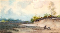 boerenpaar in het veld by paul joseph constantin gabriël