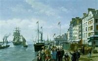 le départ du paquebot by léon auguste asselineau