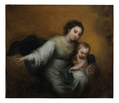 the virgin and child in the clouds by bartolomé esteban murillo