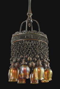 moorish eight-light chandelier by louis comfort tiffany