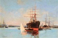 port de toulon by louis nattero