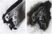 gun d-337 (study) (+ gun d-338 (study); 2 works) by robert longo
