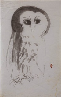 owl by brett whiteley