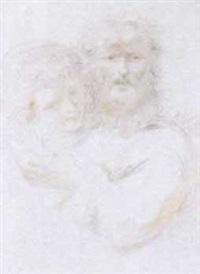 un vieillard barbu avec une jeune femme by giuseppe piattoli