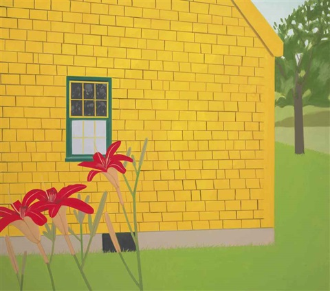 the yellow house by alex katz