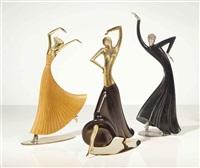 dancers (3 works) by franz hagenauer