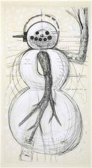 snowman drawing by yutaka sone
