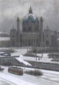 karlsplatz by ferdinand zach