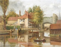 pull's ferry, norwich by william turner davey