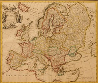 mapa europy by john senex