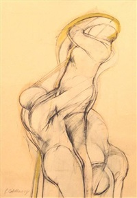 untitled (nudes) by luis caballero
