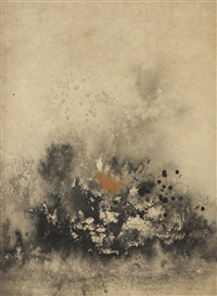 abstract landscape by cheong soo pieng