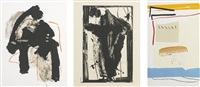 easter day 1979; america-la france variations iii; calligraphy i (walker art center 244, 331 & 490) by robert motherwell