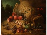 früchtestilleben mit antiker vase by nicolas bachelier