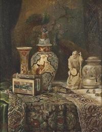 prunkstillleben mit chinesischen antiquitäten by ludwig augustin