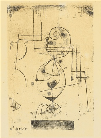 herz dame herzkönigin by paul klee